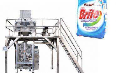 4 رئيس خطيّ يزن مسحوق منظف غسل آلة تعبئة