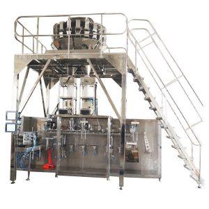 آلة التعبئة الأفقية مسبقة الصنع مع الموازين متعددة الرؤوس للحبيبات