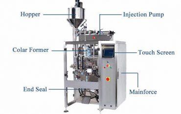 ملء السائل العمودية ملء آلة ختم مع حشو pistion